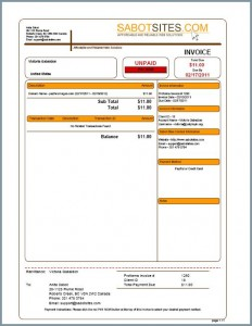 Invoice Payment Sabot Sites - Invoice payment system